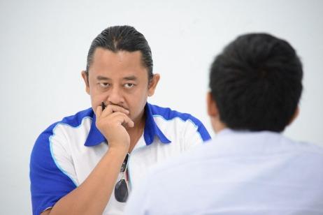 CEO Karir.com Dino Martin saat sesi wawancara
