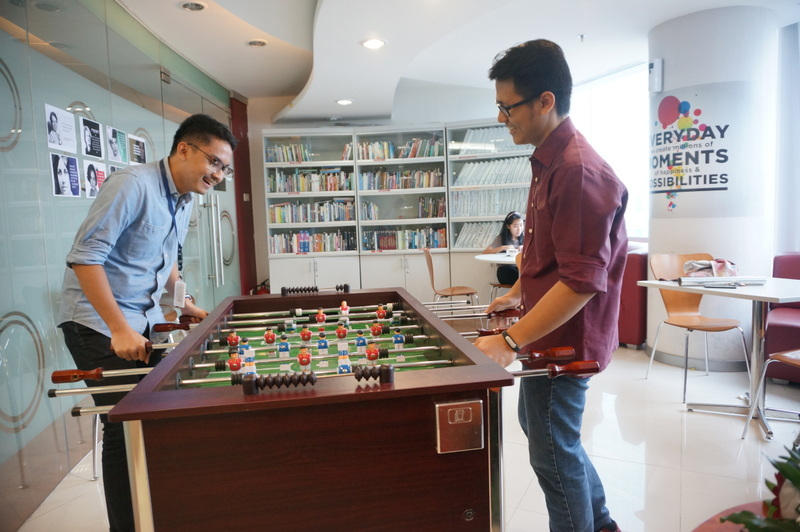 Library and games (Karir.com/Aulia Rahmi)